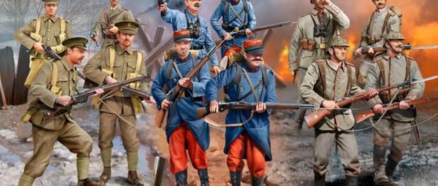 Kartonbild WW I Infantry